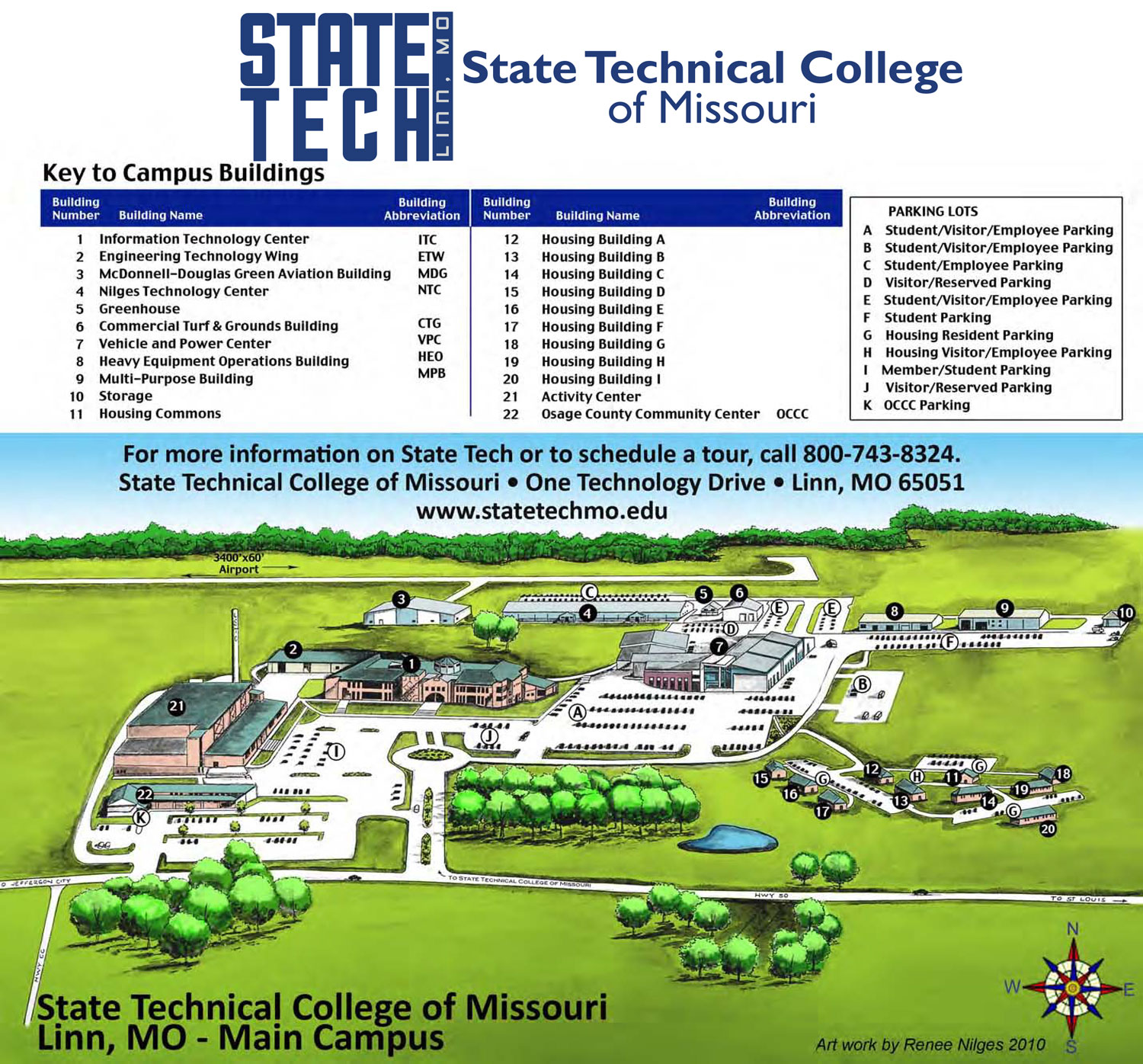 map directions state technical college of missouri from