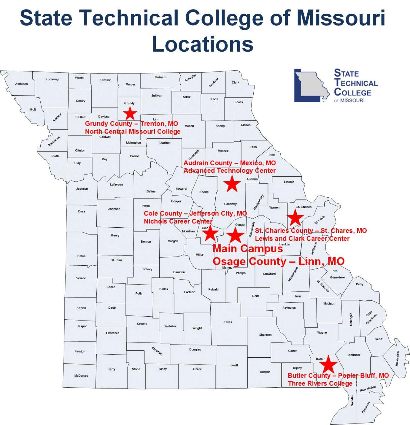 Map Directions State Technical College Of Missouri - Missouri map